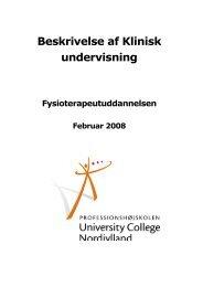 Beskrivelse af Klinisk undervisning - University College Nordjylland