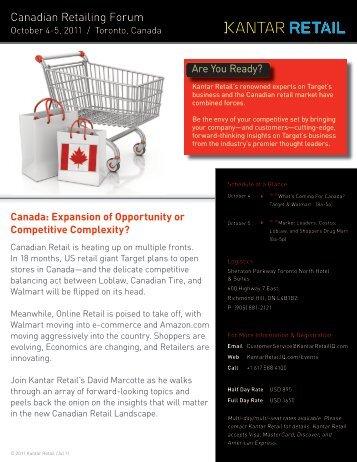 Canadian Retailing Forum - Kantar Retail iQ