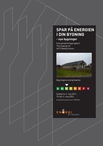 SPAR PÅ ENERGIEN I DIN BYGNING - nye bygninger - Robin Hus