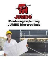 Monteringsvejledning JUMBO Murerstillads