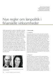 Nye regler om lønpolitik i finansielle virksomheder - Kromann Reumert