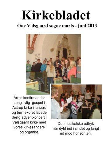 Oue Valsgaard sogne marts - juni 2013 - Oue og Valsgaard Kirke