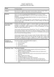Årsplan i Engelsk for 3. A 2011-2011 - Gudumholm Skole