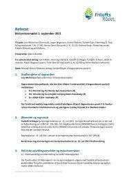 Referat bestyrelsesmøde 17. marts 2011 - Friluftsrådet