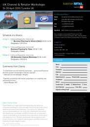 UK Channel & Retailer Workshops - Kantar Retail iQ