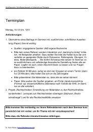 Terminplan - Dr. Karin Reber