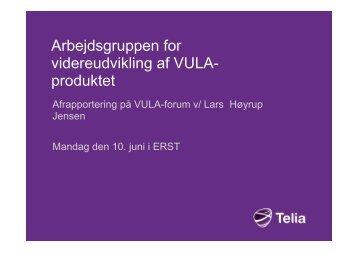 Videreudvikling af VULA afrapportering 10 juni ... - Erhvervsstyrelsen