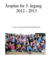 Årsplan for 3. årgang 2012 - 2013 - Rønbækskolen