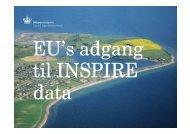 Om EU's adgang til INSPIRE-data - INSPIRE Danmark
