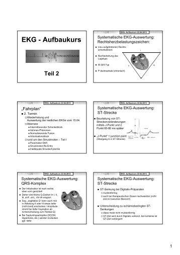 EKG - Aufbaukurs
