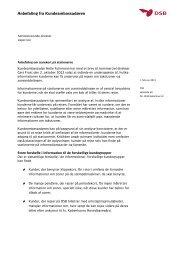 Informationer om takstzoner - DSB