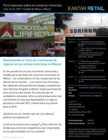 Foro mexicano sobre el comercio minorista ... - Kantar Retail iQ