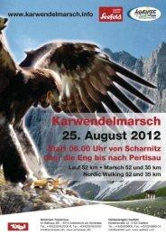 Karwendelmarsch 2012 Sponsor- & Partnerinformationen Seite 1
