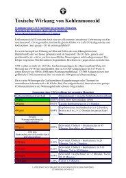 Toxische Wirkung von Kohlenmonoxid (16KB) - BSM W. Hege