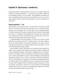 Kapitel 6: Opinionen i medierne - Modinet