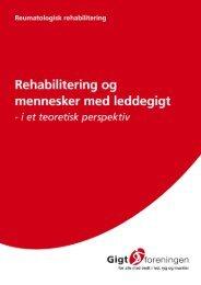 Rehabilitering af mennesker med leddegigt i et ... - Gigtforeningen