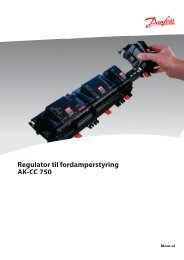 Regulator til fordamperstyring AK-CC 750