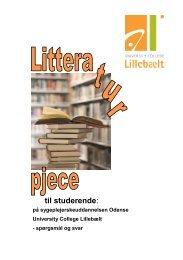 Litteraturpjece til studerende - University College Lillebælt