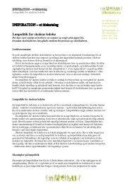 Lønpolitik for skolens ledelse - Lilleskolerne