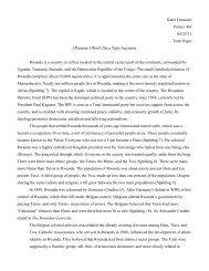 Rwanda Term Paper - Katie Francour