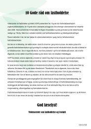 10 Gode råd om fastholdelse God læselyst! - Videnscenter om ...