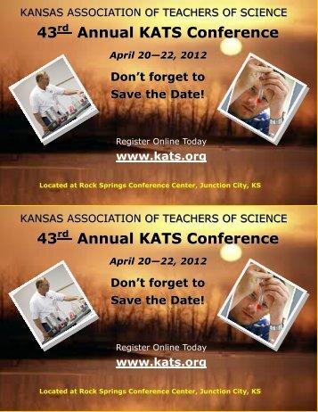 Save the Date Card - KATS