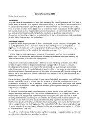 Generalforsamling 2010 Bestyrelsens beretning ... - personer