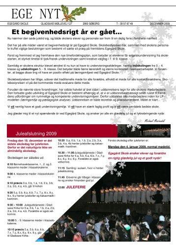 Egenyt julen 2009 - Gladsaxe Skole