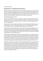 Formandens beretning v/ Sara Schødt Nielsen - Fadl