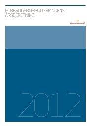 årsberetning 2012 - Forbrugerombudsmanden
