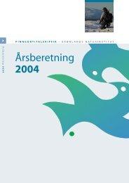 Årsberetning 2004 - Grønlands Naturinstitut