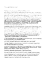 Bestyrelsens beretning om 2012 - DOF København