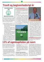 Travlt og begivenhedsrigt år 13% af egenkapitalen på navn - DLF ...