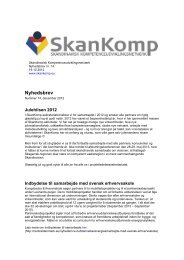 Nyhedsbrev nr. 14 - 19. december 2012 - SkanKomp