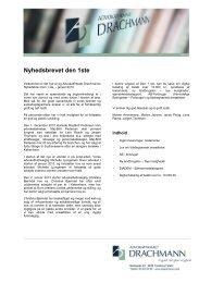 Klik her for at læse Nyhedsbrevet - Advokatfirmaet Drachmann