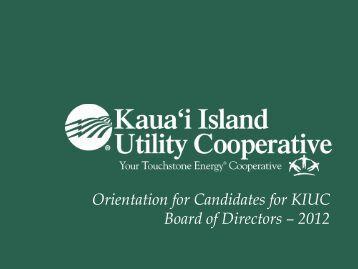 Directors - Kauai Island Utility Cooperative