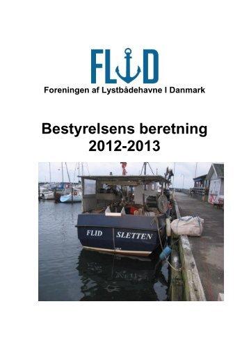 Bestyrelsens beretning 2012-2013 - Foreningen af Lystbådehavne i ...