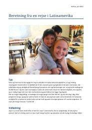 Beretning fra en rejse i Latinamerika - Marselisborg Gymnasium