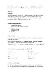 Referat af genereal forsamling d. 2. maj 2011.