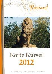 Korte Kurser 2012 - Højskolerne