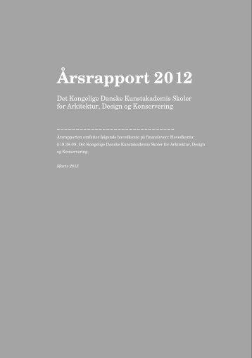 Skabelon til årsrapport 2012 - Kunstakademiets Arkitektskole