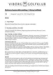 Referat fra generalforsamling 2011 - Viborg Golfklub