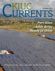Port Allen Solar Array Ready to Shine - Kauai Island Utility ...