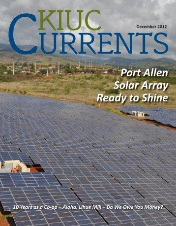 Port Allen Solar Array Ready to Shine - Kauai Island Utility ...