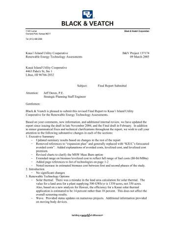 Renewable Energy Technology Assessments - Kauai Island Utility ...