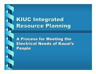 IRP: A Process for Meeting the Electrical Needs of Kauai's People