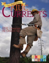 KIUC Linemen All Geared Up - Kauai Island Utility Cooperative
