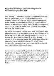 Bestyrelsens beretning til generalforsamlingen i Sorø ...