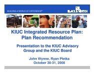 Presentation of the Draft IRP to KIUC's IRP Advisory Group