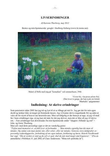 1 Barndom og drengetid - Thorborg - Liisberg Hjemmeside - mono.net